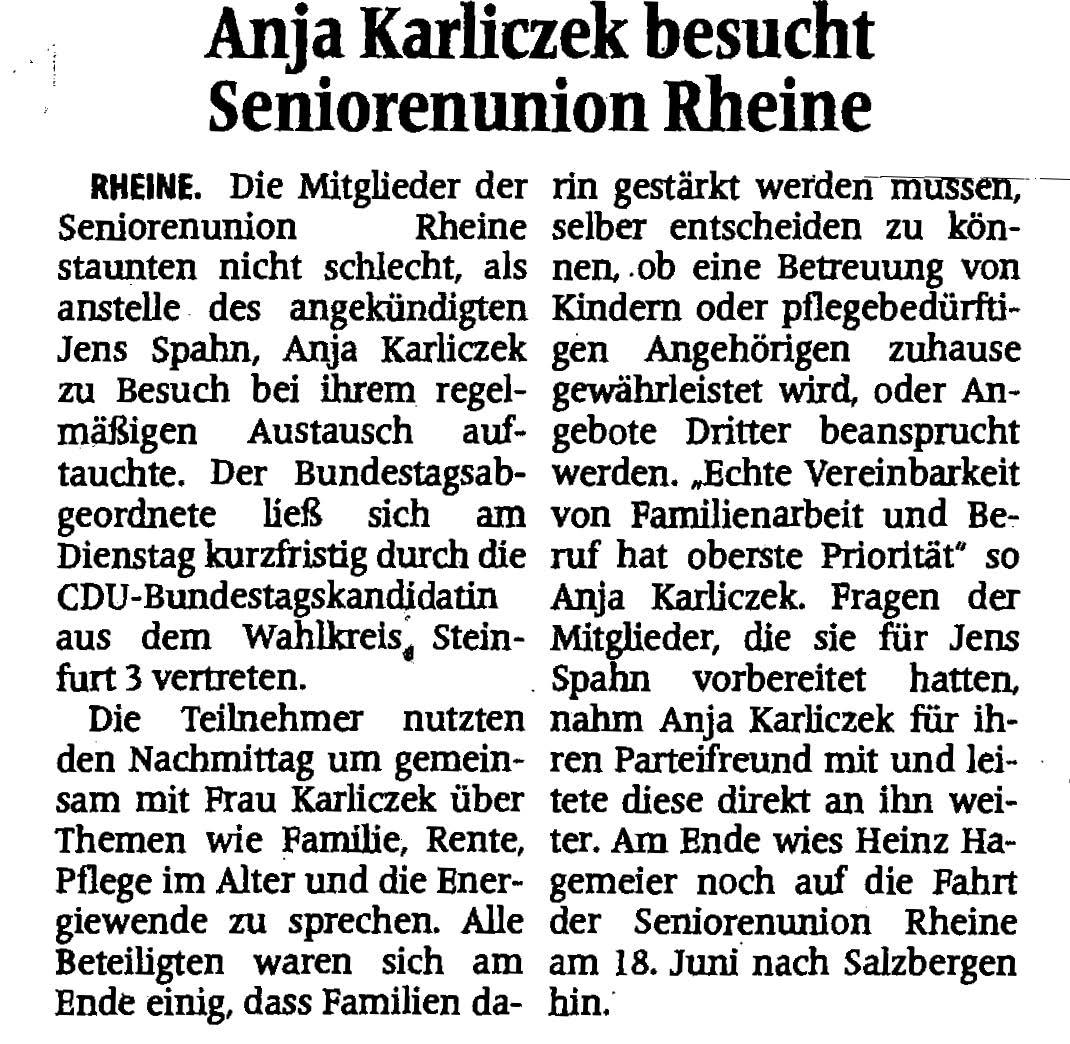 Quelle: Münsterländische Volkszeitung
