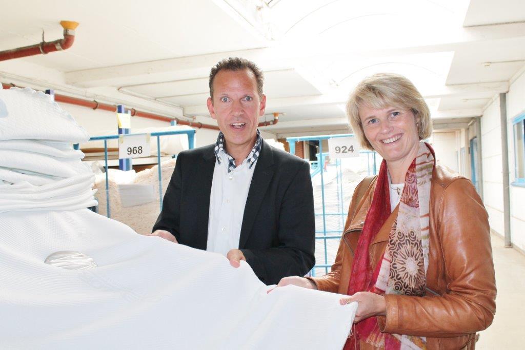 Anja Karliczek MdB, Klaus Struffert (Geschäftsführer Setex-Textil GmbH)